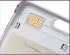SIMカード保管フォルダを装備