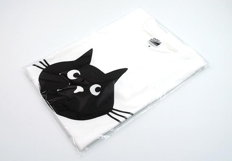 Tシャツは透明のOPP袋に封入して納品