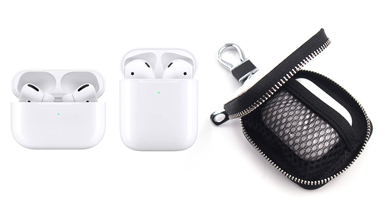 AirPods(第1世代・第2世代)とAirPods Proも使える兼用ケース。