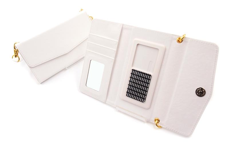 スライド式三つ折り手帳型スマホケース