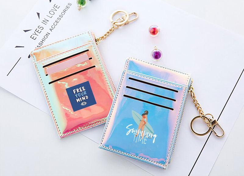 オーロラミニ財布のオリジナル印刷・プリント