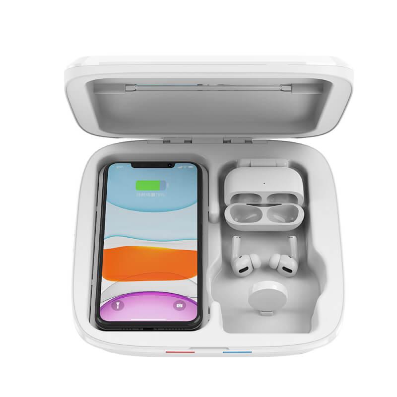 Qi対応スマホやApple Watch・AirPodsを充電できる多機能ウイルス除菌ボックス